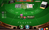 Online baccarat gameplay