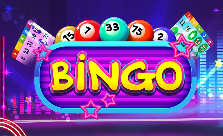 Bingo balls and tickets